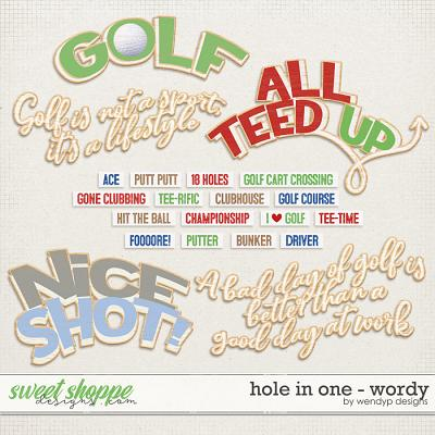 Hole in One - wordy by WendyP Designs