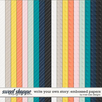 Write Your Own Story: Papers by River Rose Designs