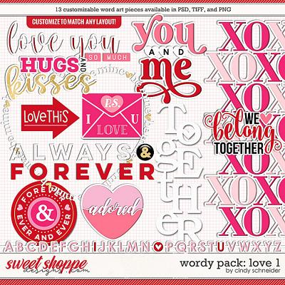 Cindy's Wordy Pack: Love 1 by Cindy Schneider