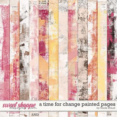 A Time For Change Painted Pages by Tracie Stroud