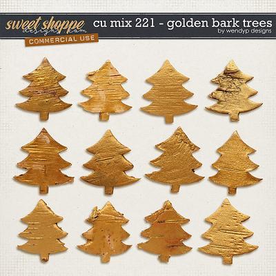 CU mix 221 - Golden bark trees by WendyP Designs
