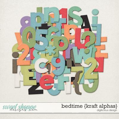 Bedtime {Kraft Alphas} by Digilicious Design
