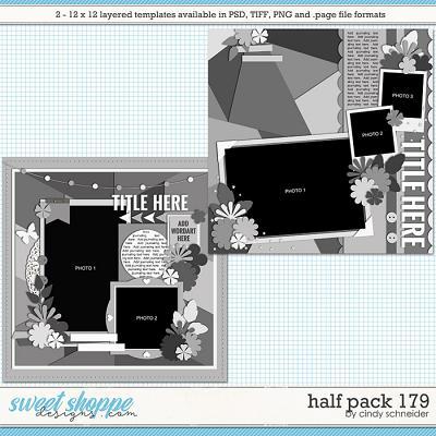 Cindy's Layered Templates - Half Pack 179 by Cindy Schneider