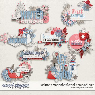 Winter Wonderland :  Word Art by Meagan's Creations