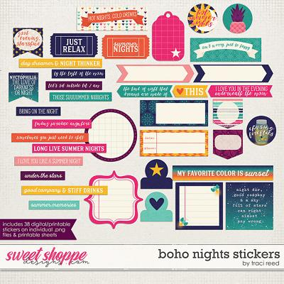 Boho Nights Stickers by Traci Reed