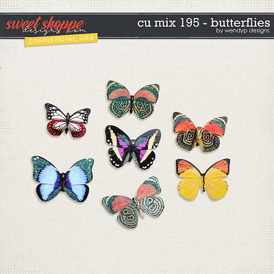 CU Mix 195 - butterflies by WendyP Designs
