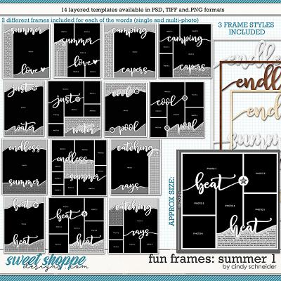 Cindy's Layered Templates - Fun Frames: Summer 1 by Cindy Schneider
