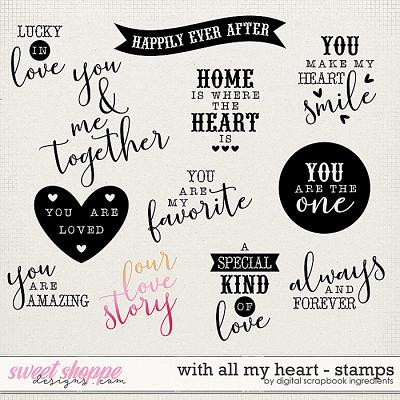 With All My Heart | Stamps by Digital Scrapbook Ingredients
