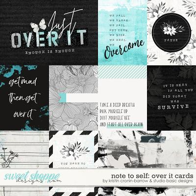 Note To Self: Over It Cards by Kristin Cronin-Barrow & Studio Basic