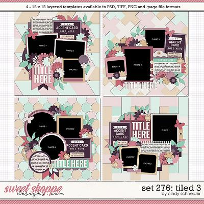 Cindy's Layered Templates - Set 276: Tiled 3 by Cindy Schneider