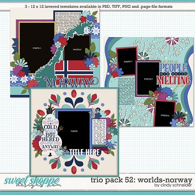 Cindy's Layered Templates - Trio Pack 49: Worlds-Norway by Cindy Schneider