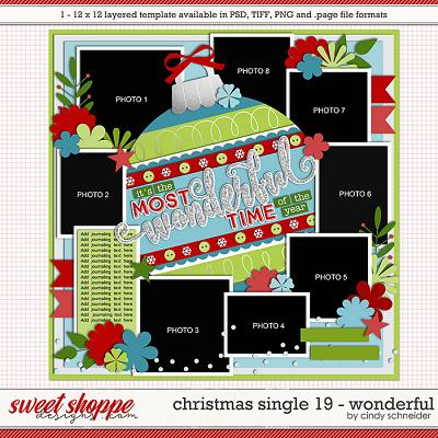 Cindy's Layered Templates - Christmas Single 19: Wonderful by Cindy Schneider