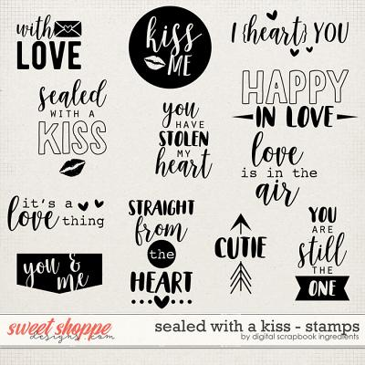 Sealed With A Kiss | Stamps by Digital Scrapbook Ingredients