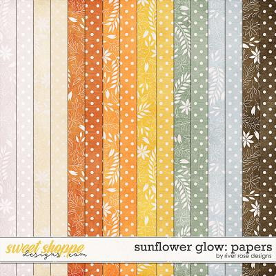 Sunflower Glow: Papers by River Rose Designs