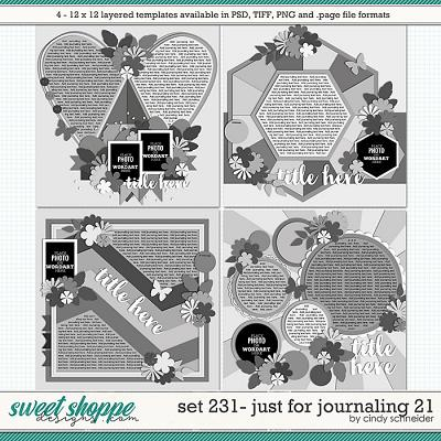 Cindy's Layered Templates - Set 231: Just for Journaling 21 by Cindy Schneider