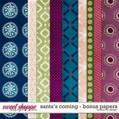 Santa's Coming - Bonus Papers by Red Ivy Design