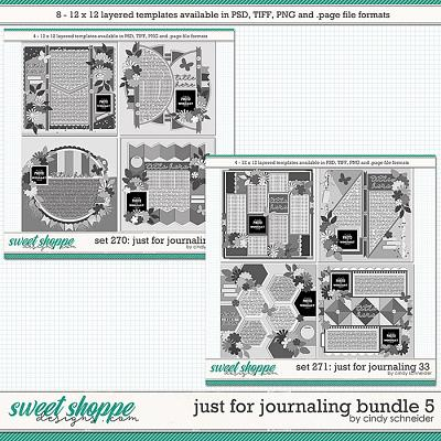 Cindy's Layered Templates - Just for Journaling Bundle 5 by Cindy Schneider