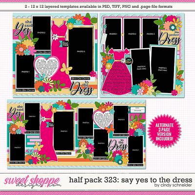 Cindy's Layered Templates - Half Pack 323: Say Yes to the Dress by Cindy Schneider