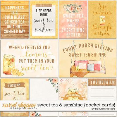 Sweet Tea & Sunshine Pocket Cards by Ponytails