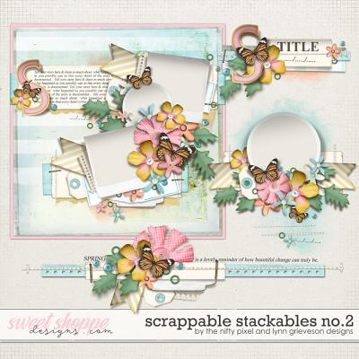 SCRAPPABLE STACKABLES No.2 | by The Nifty Pixel & Lynn Grieveson Designs