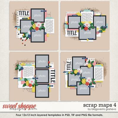 Scrap Maps 4 {layered templates} by Blagovesta Gosheva