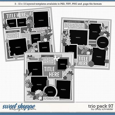 Cindy's Layered Templates - Trio Pack 97 by Cindy Schneider