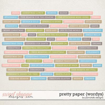 Pretty Paper Wordys by Ponytails