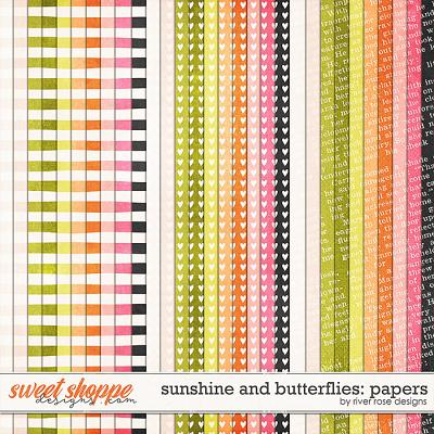 Sunshine & Butterflies: Papers by River Rose Designs