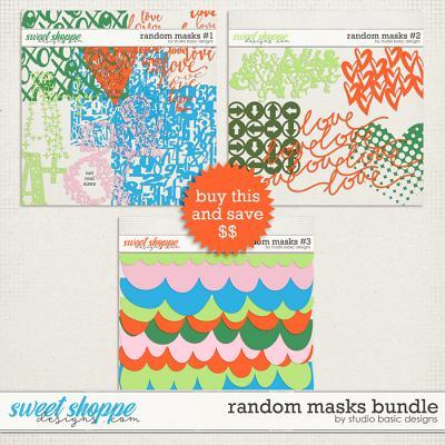 Random Masks Bundle by Studio Basic