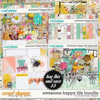 Awesome Happy Life Bundle by Studio Basic