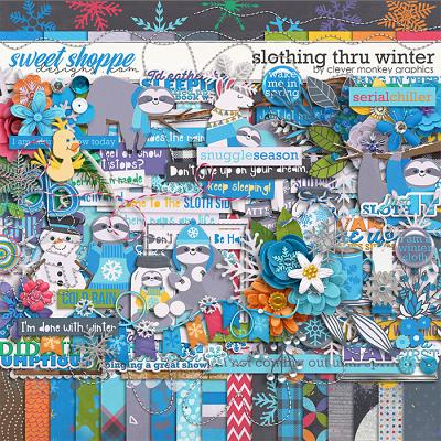 Slothing thru Winter by Clever Monkey Graphics