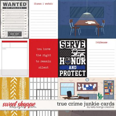 True Crime Junkie Cards by Kelly Bangs Creative