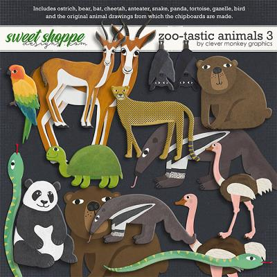 Zoo-tastic Animals 3 by Clever Monkey Graphics