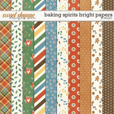Baking Spirits Bright Papers by LJS Designs