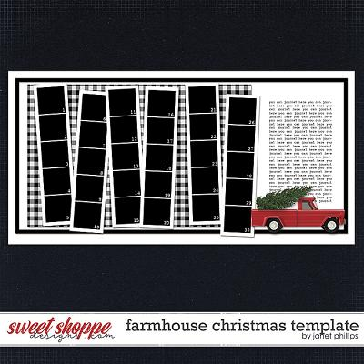 FARMHOUSE CHRISTMAS TEMPLATE by Janet Phillips