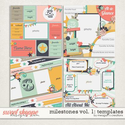 Milestones Volume 1: Templates by Meagan's Creations