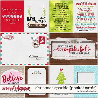 Christmas Sparkle Pocket Cards by Ponytails