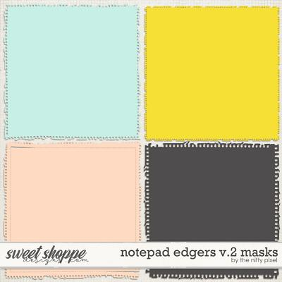 NOTEPAD EDGERS V.2 | CLIPPING MASKS by The Nifty Pixel