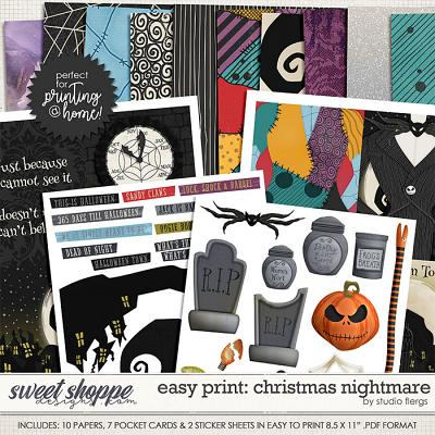 Remember the Magic: CHRISTMAS NIGHTMARE- EZPRINT by Studio Flergs