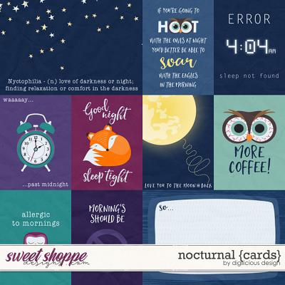 Nocturnal {Cards} by Digilicious Design