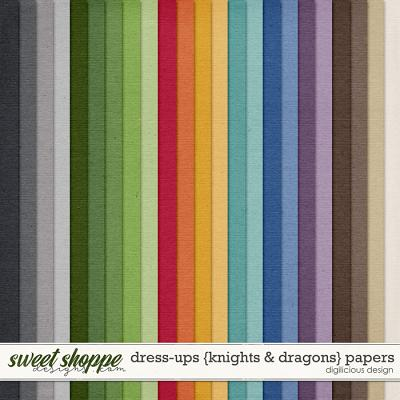 Dress-ups {Knights & Dragons} Kraft by Digilicious Design