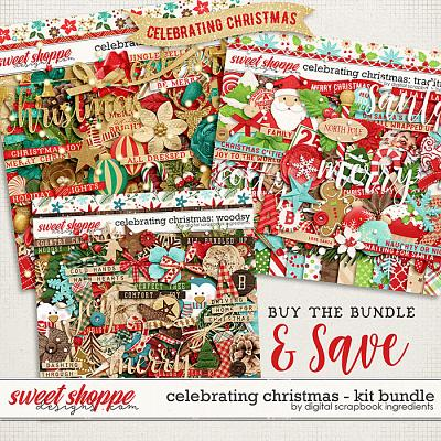 Celebrating Christmas: Kit Bundle by Digital Scrapbook Ingredients