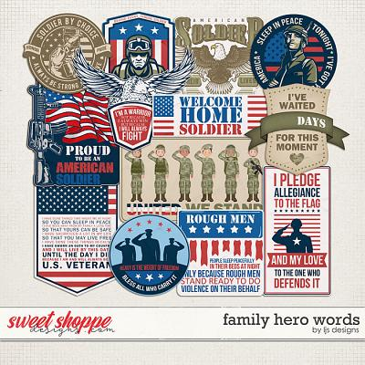 Family Hero Words by LJS Designs