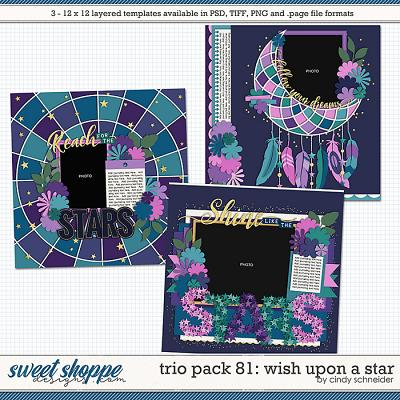 Cindy's Layered Templates - Trio Pack 81: Wish Upon a Star by Cindy Schneider