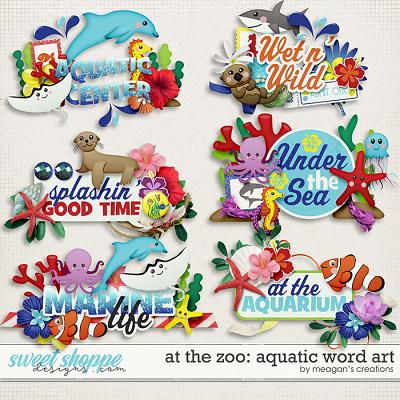 At the Zoo: Aquatic Word Art by Meagan's Creations