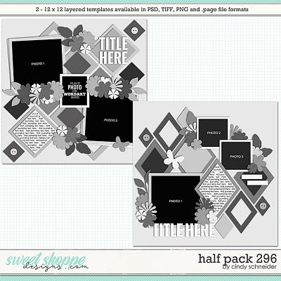 Cindy's Layered Templates - Half Pack 296 by Cindy Schneider