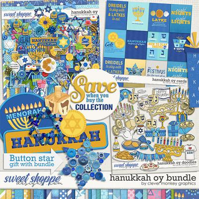 Hanukkah Oy Bundle by Clever Monkey Graphics