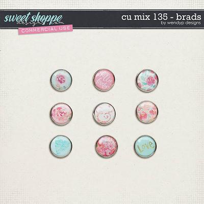 CU Mix 135 - brads by WendyP Designs