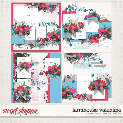Farmhouse Valentine Layered Templates by Southern Serenity Designs