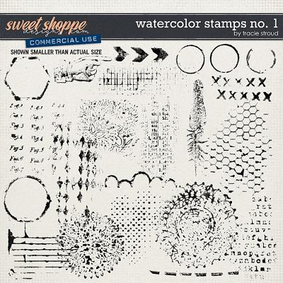 CU Watercolor Stamps no. 1 by Tracie Stroud